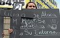 Un grupo de mujeres realizaron el pasado 27 de abril una marcha en dirección al Castillo de la Policía para exigir se investiguen casos de feminicidios.
