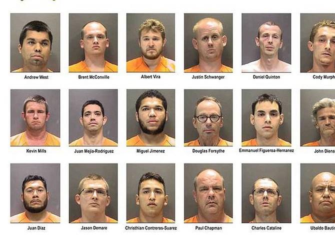 Detuvieron a 21 depredadores sexuales de niños en Florida
