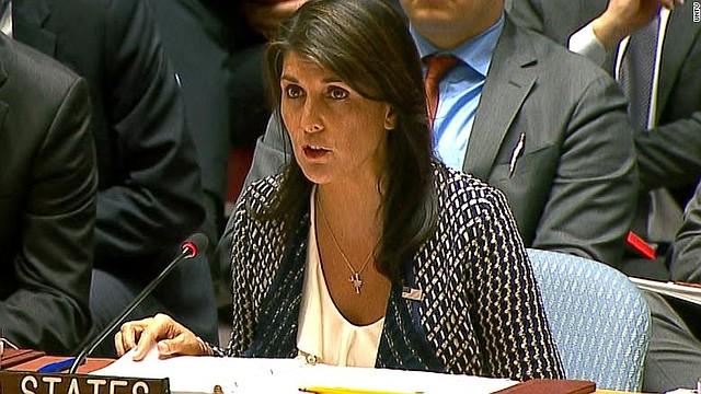 EEUU. La embajadora de EEUU en la ONU, Nikki Haley