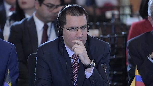VENEZUELA. El canciller venezolano Jorge Arreaza participa durante las sesiones de la 70ª Asamblea General de la OEA.
