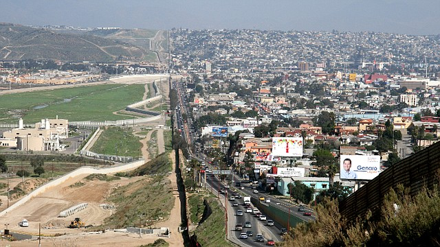 EEUU. Frontera en Texas que colinda con el territorio mexicano