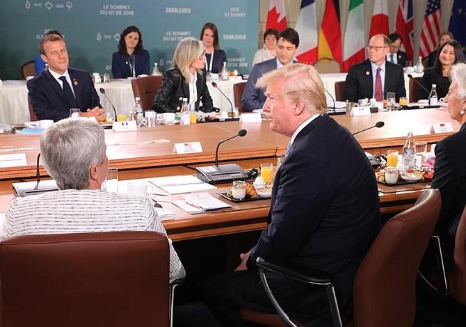 Trump pidió la eliminación de aranceles en encuentro del G7