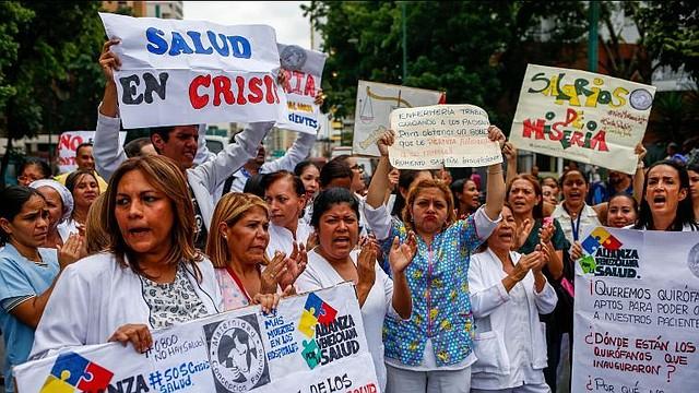 VENEZUELA. Protesta de trabajadores de la salud