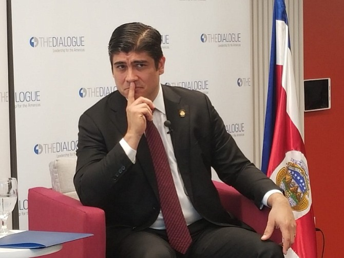 EE.UU. Presidente de Costa Rica, Carlos Alvarado desde Washington D.C