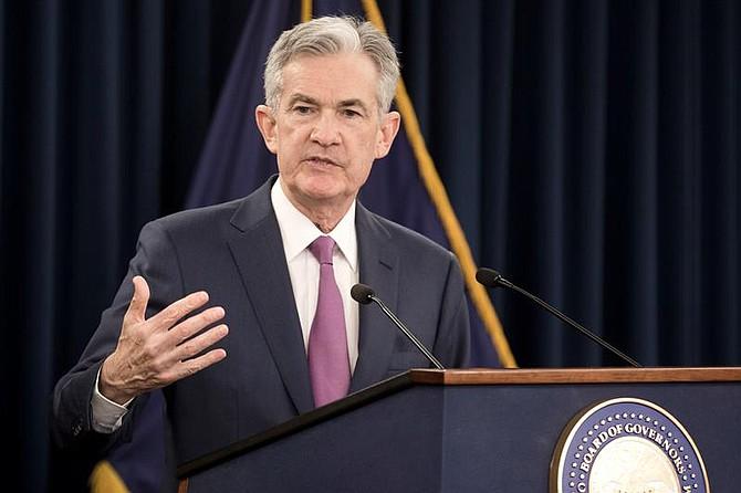 EE.UU. El presidente de la Junta de la Reserva Federal, Jerome Powell, ofrece una conferencia de prensa después de una reunión del Comité Federal de Mercado Abierto