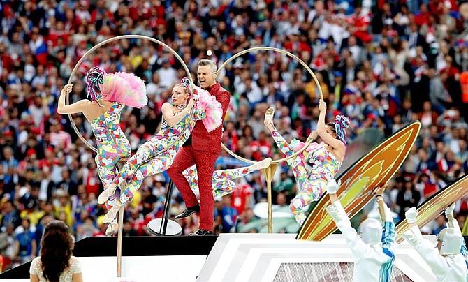 El cantante de pop británico Robbie Williams