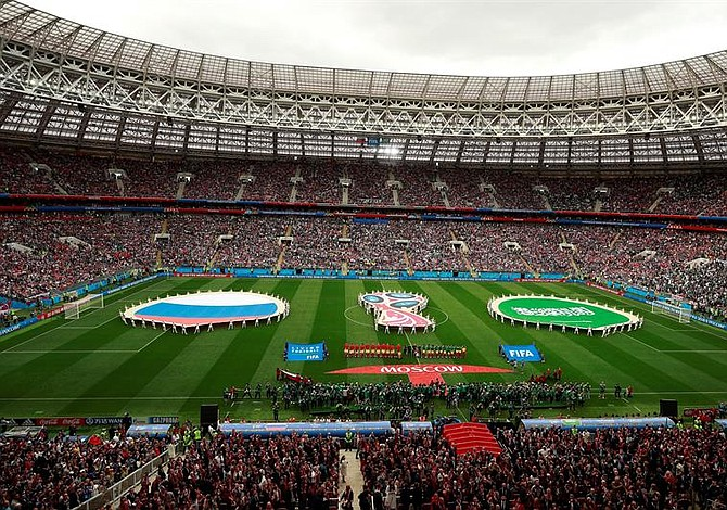 En fotos: Así fue la inauguración del Mundial de Rusia