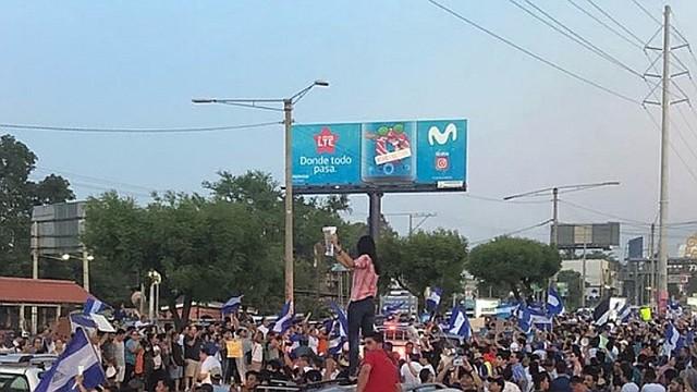 NICARAGUA. La mayoría de los ciudadanos salieron a las calles