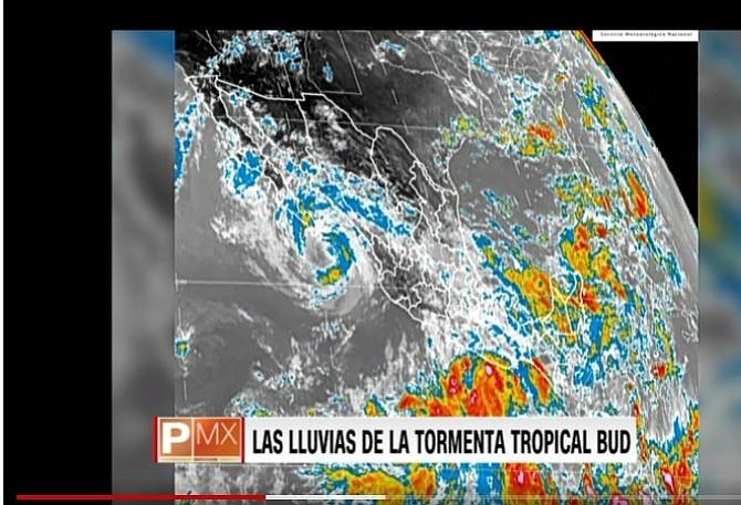 México: Muere niño arrastrado por una corriente de las fuertes lluvias causadas por el huracán Bud