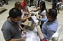 COLOMBIA - Jurados realizan el conteo de votos hoy, domingo 17 de junio de 2018, en un puesto de votación en Cali (Colombia). Se lleva a cabo la segunda vuelta presidencial entre el candidato del Centro Democrático Iván Duque y el de Colombia Humana Gustavo Petro.