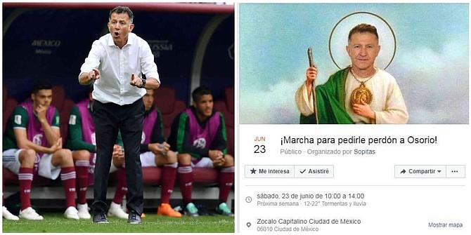 MÉXICO - Convocan marcha para pedir disculpas a Osorio