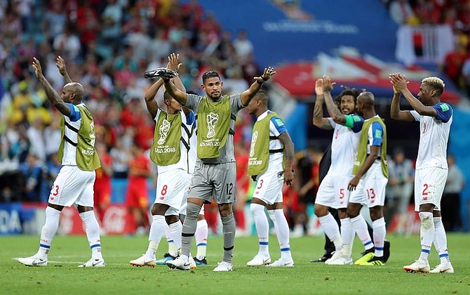 MUNDIAL. Equipo de Panamá tras el encuentro de este lunes 18 de junio contra Belgica
