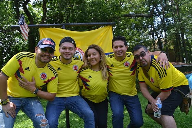 Colombianos en Virginia  viven fiebre mundialista como en casa