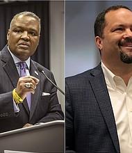 GOBERNACIÓN. El ejecutivo de Prince George's (izq.) y el activista Ben Jealous lideran las primarias en la contienda demócrata para hacerle frente al actual gobernador Hogan en noviembre.