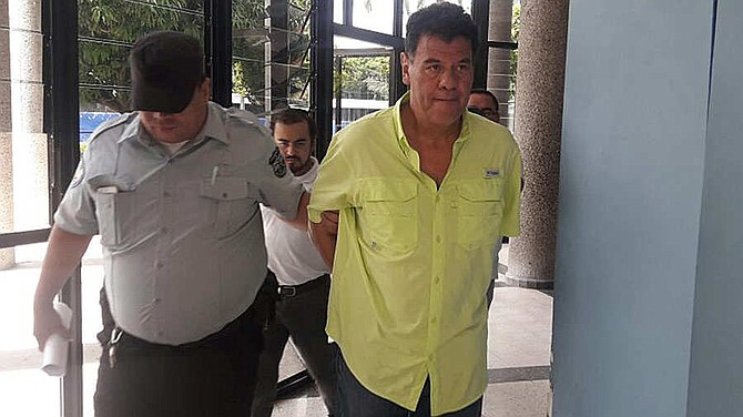 EL SALVADOR - Reynaldo Vasquez, imputado enfrentó la audiencia de instrucción.