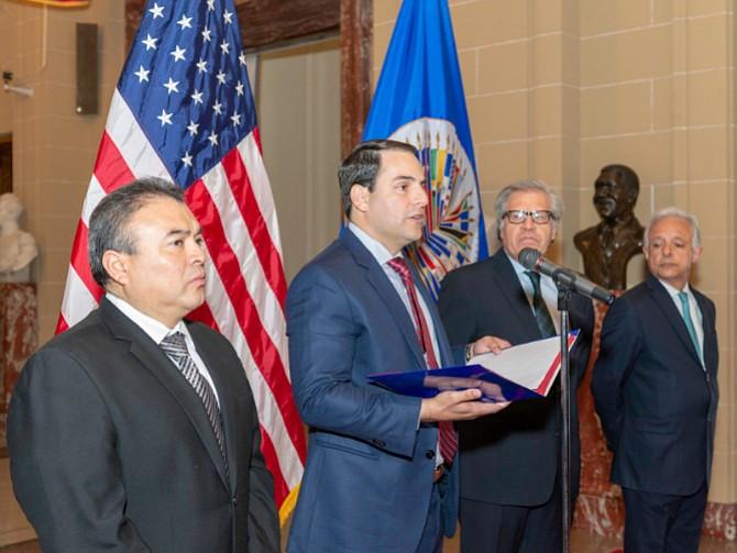 TRUJILLO. EL embajador estadounidense para la OEA espera hablar del tema en el Consejo Extraordinario a celebrarse esta semana