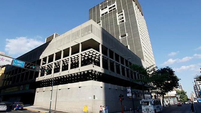 ECONOMÍA. Fachada del Banco Central de Venezuela