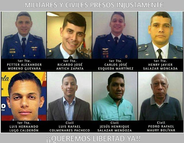 VENEZUELA. Cinco militares y tres civiles detenidos por el régimen de Maduro