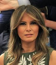 EE.UU. Melania Trump, esposa del presidente de Estados Unidos, Donald Trump