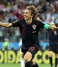 CROACIA. Luka Modric marcó el segundo encuentro del choque