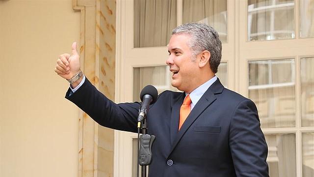 PAZ. Presidente electo colombiano, Iván Duque