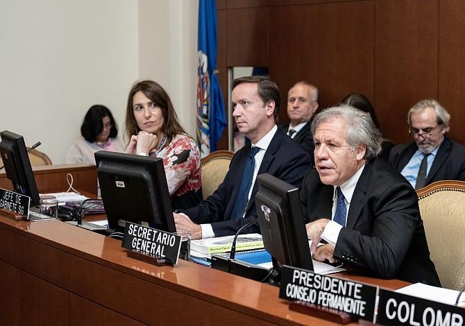 """Luis Almagro dice que futuro de Nicaragua debe decidirlo """"el pueblo y no una élite"""""""
