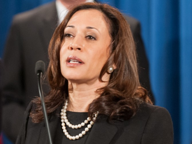 EEUU. Kamala Harris, senadora estadounidense