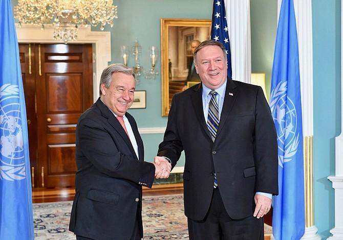 Pompeo y Guterres conversaron sobre Corea del Norte y Oriente Medio