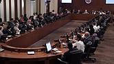 MUNDO. Vista general del Consejo Permanente de la OEA el viernes 22 de junio de 2018, en la sede del organismo en Washington D.C.