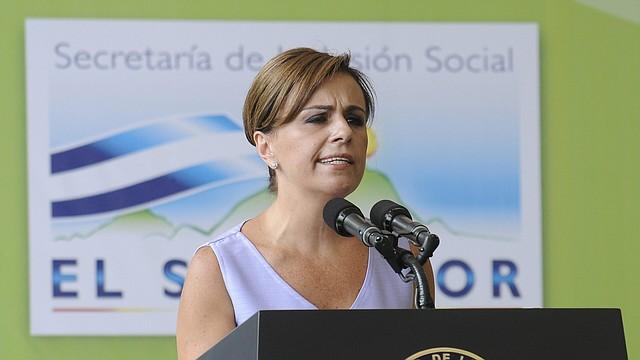 ELSALVADOR. Vanda Pignato, ex primera dama de El Salvador.