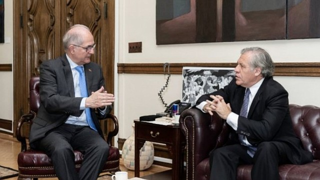 ALMAGRO. El secretario general de la OEA sostuvo un encuentro con el exalcalde de Caracas