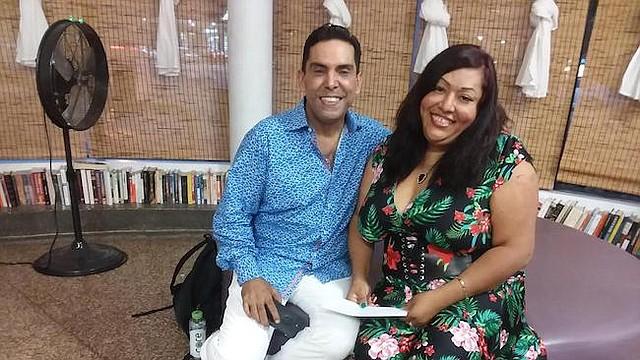 """Documental. Pedro Biaggi y Ruby Corado, en Casa Ruby, durante la presentación del cortometraje """"Cambios de Vida"""", dedicado a esta luchadora."""