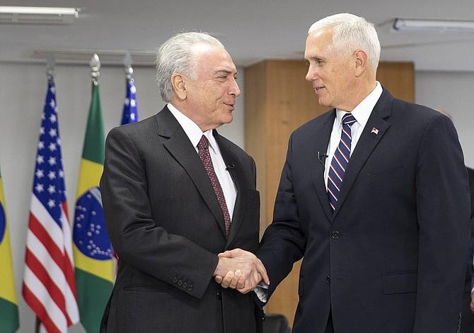 "Pence en Brasil: ""Nos comprometimos a presionar al régimen de Maduro"""