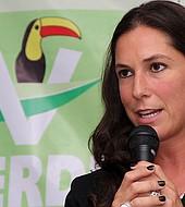 La candidata del Partido Verde a la Jefatura de Gobierno de la Ciudad de México, Mariana Boy Tamborrell.