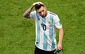 RUSIA. Lionel Messi luego del juego contra Francia.