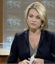 EE.UU. Heather Nauert, portavoz del Departamento de Estado