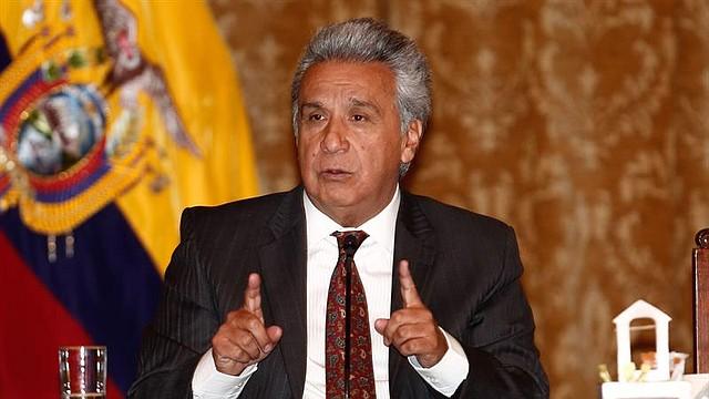 LATINOAMÉRICA. El presidente de Ecuador, Lenín Moreno, en el Palacio de Gobierno, en Quito