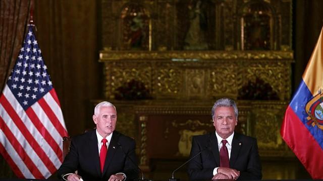 ENCUENTRO. Pence y Moreno sostuvieron un encuentro el pasado mes de junio