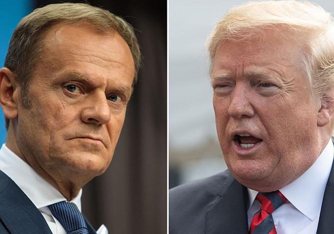 """Trump responde a Tusk: """"Tenemos muchos aliados"""""""