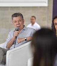 COLOMBIA. Presidente Juan Manuel Santos
