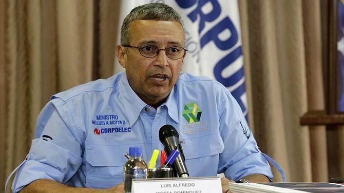 VENEZUELA. Luis Motta Dominguez, ministro de Energía Eléctrica del régimen de Nicolás Maduro