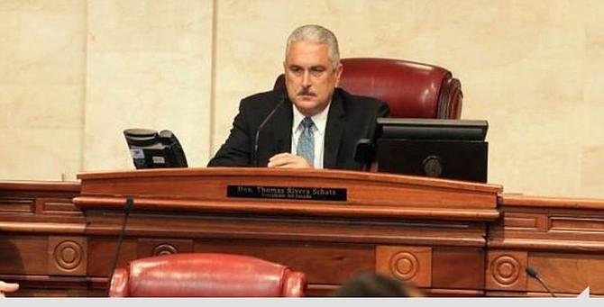 PUERTO RICO. Presidente del Senado, Thomas Rivera Schatz