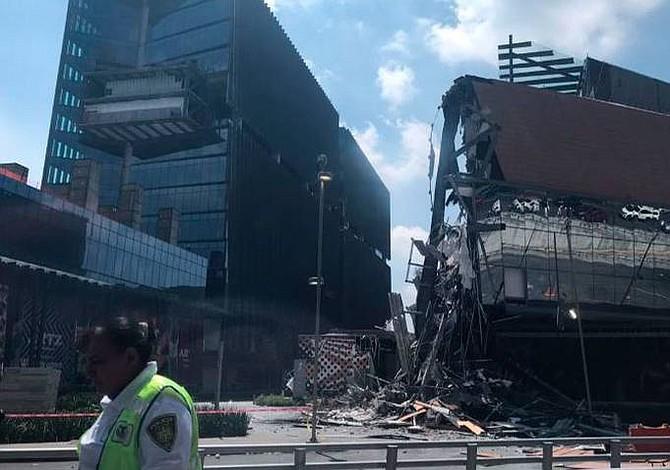 Se desploma centro comercial en México sin dejar heridos (Video y fotos)
