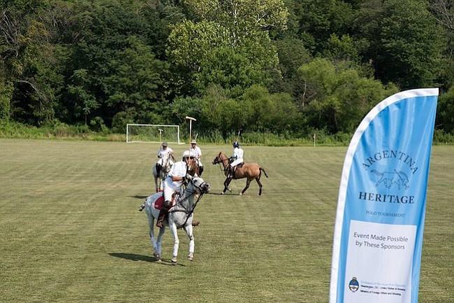 Summerhill. Los jugadores durante el torneo de polo, en beneficio del hospital infantil Garrahan, en Buenos Aires Argentina, en Muldoon Fields en Summerhill Polo, en Maryland.