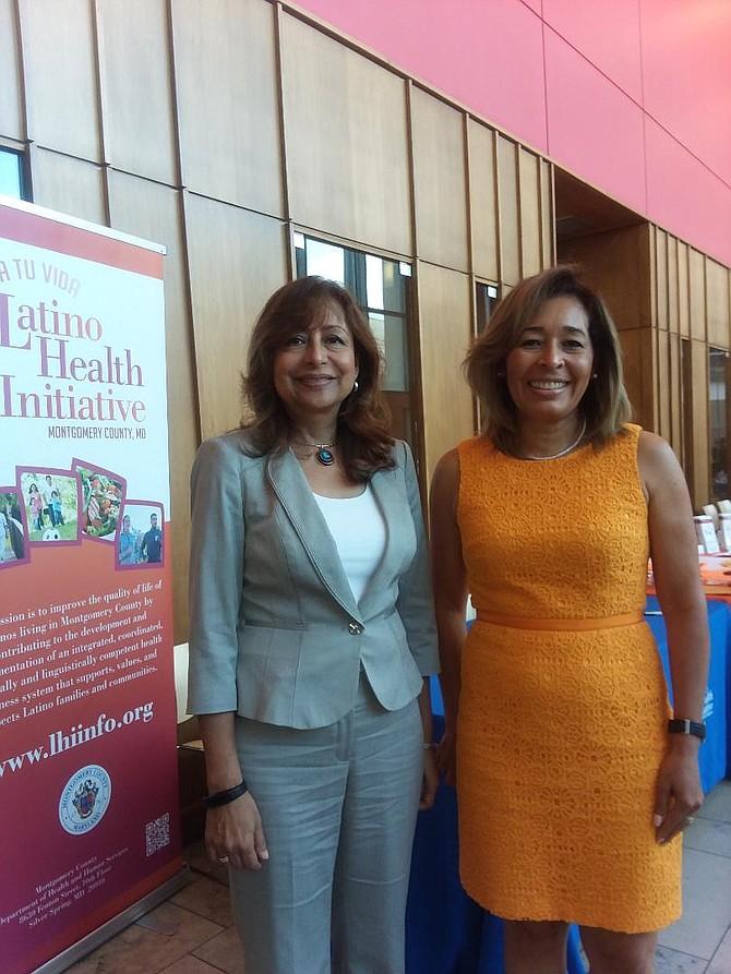 Compromiso. Sonia Mora (izq.), directora de LHA; y, Yanira Cruz (der.), presidenta de NHCOA trabajan hombro a hombro para que más hispanos participen en las elecciones de noviembre.