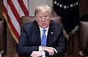 EE.UU. El presidente de los Estados Unidos, Donald J. Trump, asiste a una reunión con su gabinete en la Casa Blanca, Washington