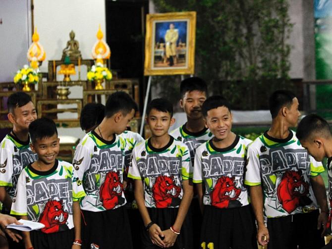 TAILANDIA. Fueron rescatados luego de dos semanas