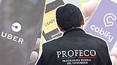 FIRMES. Organismo de protección al consumidor impuso multas a las empresas internacionales de transporte privado Uber, Easy Taxi y Cabify por supuestas cláusulas abusivas y publicidad engañosa.