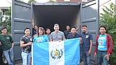 Contenedor enviado a Guatemala por el American Latino Committe