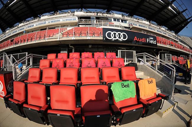 Washington, D.C. - Julio 14, 2018: Imagenes del estadio antes de el partido en el estreno en su nuevo estadio Audi Field
